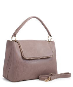 New Fashion Satchel Bag KLM-1856 DBLUSH