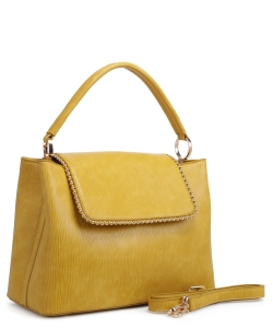 New Fashion Satchel Bag KLM-1856 YELLOW