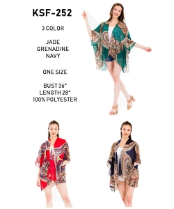 Package of 6 Fashion Print Kimono  KSF-252