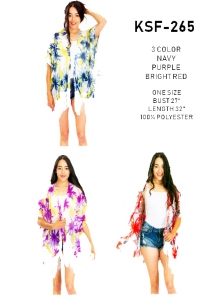Women Fashion Scarf Floral Cover Up Kimono (Minimum of 6)