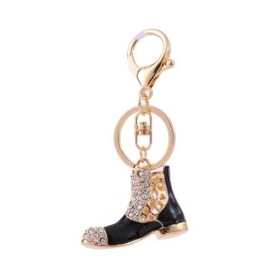 Boots Rhinestone Keychain KY320061 GOLD