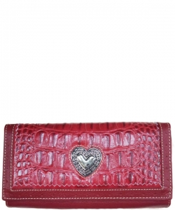 Designer Inspired Leather Wallet LC1008 RED