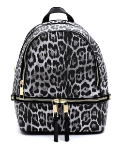 Leopard Backpack LE1082 BLACK