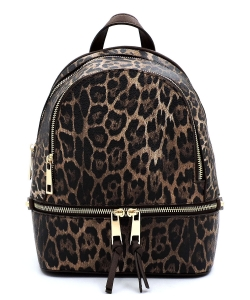 Leopard Backpack LE1082 BROWN