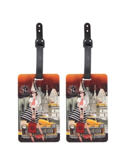 2 pcs Nicole Lee Exclusive Design Luggage Tag lgt6653