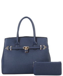 Two in One Tote Handbag Designer with Wallets LI6982 BLUE