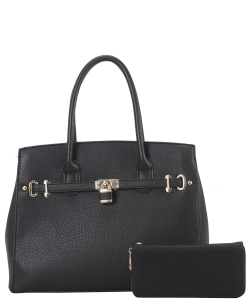 Two in One Tote Handbag Designer with Wallets LI6982 Black