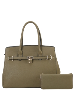 Two in One Tote Handbag Designer with Wallets LI6982 OLIVE