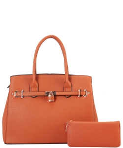 Two in One Tote Handbag Designer with Wallets LI6982 ORANGE