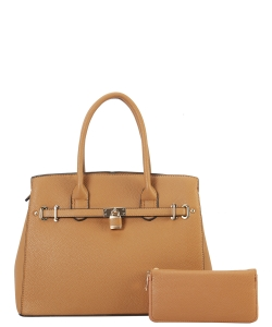 Two in One Tote Handbag Designer with Wallets LI6982 TAN