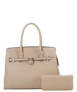 Two in One Tote Handbag Designer with Wallets LI6982 TAUPE