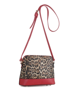 Faux Leopard Crossbody Bag LM19559 RED