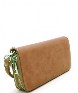 Simple Double Zip-Around Wallet LP0012  BRICK