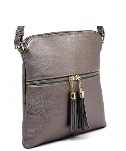 Elegant Wholesale Fashion Cross Body Bag LP062 PEWTER
