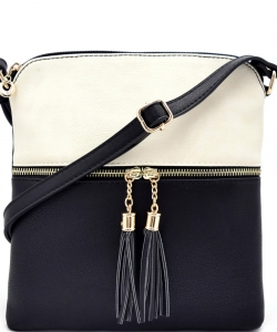 Elegant Wholesale Fashion Cross Body Bag LP062-WT/BK