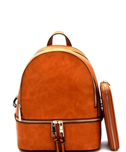 New Fashion Backpack with Wallet LP1062W TAN
