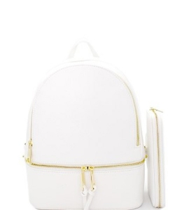 New Fashion Backpack with Wallet LP1062W WHITE