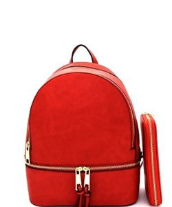 New Fashion Backpack with Wallet LP1062W WATERMELON