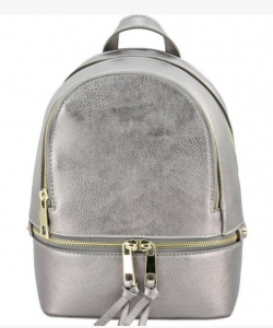 Fashion zipper Cute Backpack LP1082 PEWTER