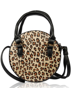 Leopard Crossbody Bag LP1800 BLACK