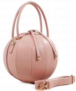 Fashion Ball Color Block  Handbag LS1818  BLUSH