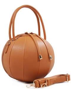 Fashion Ball Color Block  Handbag LS1818  CAMEL