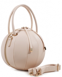 Fashion Ball Color Block  Handbag LS1818  NUDE