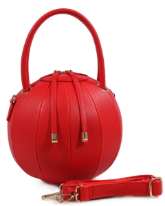 Fashion Ball Color Block  Handbag LS1818  RED