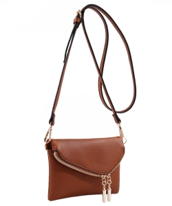 MKF Collection Celebrity Style Saddle Crossbody Bag,Waist Bag by Mia K Farrow ls2267 BROWN