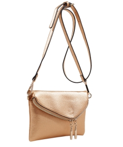 MKF Collection Celebrity Style Saddle Crossbody Bag,Waist Bag by Mia K Farrow ls2267 GOLD