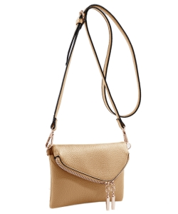 MKF Collection Celebrity Style Saddle Crossbody Bag,Waist Bag by Mia K Farrow ls2267 TAN