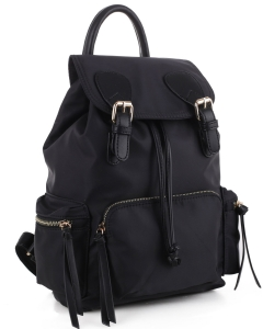 Basic Fashion Color Backpack LS3168 BLACK