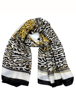 Leopard Printed Scarf LS803A BROWN