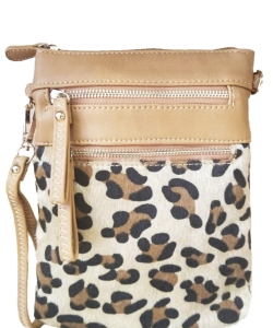 Women's Leopard Print Crossbody Bag LU006 BEIGE