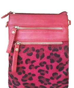 Women's Leopard Print Crossbody Bag LU006 RED