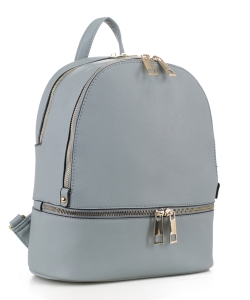 Dual Compartment Fashion Backpack LW-1398A GRAY BLUE