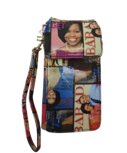 Michelle Obama Cellphone Wallet Wristlet Collection mp3811 MULTI