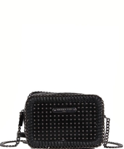 Nicole Lee Ismay Square Chain Mini Crossbody Bag MQ12805 BLACK