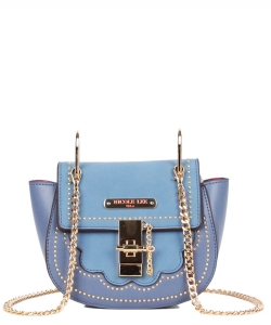 Nicole Lee Zosia Saddle Crossbody Bag mq12817 BLUE