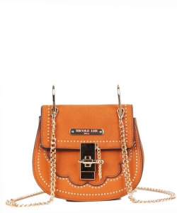 Nicole Lee Zosia Saddle Crossbody Bag mq12817 BROWN
