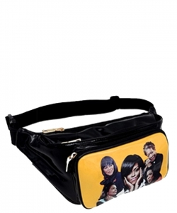 Magazine Print Designer Inspired Fanny Pack MQ3260 YELLOW