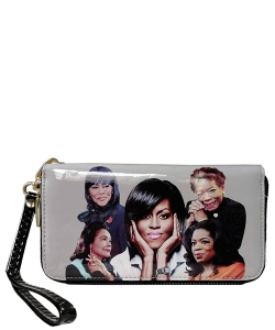 Michelle and African American Women Icons Wallet Collection MQ8811 BLACK