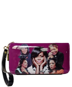 Michelle and African American Women Icons Wallet Collection MQ8811 PURPLE