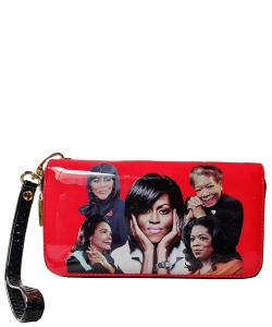 Michelle and African American Women Icons Wallet Collection MQ8811 RED