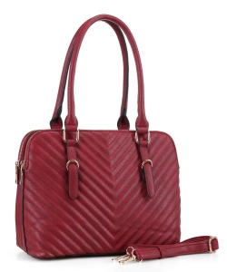 New Fashion Satchel Handbag MW-3639  BURGUNDY