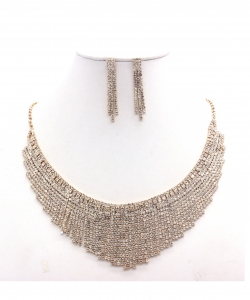 Rhinestone Necklace NB300599 GDCL