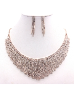 Rhinestone Necklace NB300599 RGCL