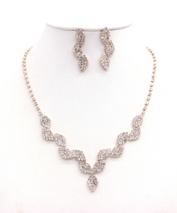 Rhinestone Necklace NB300606 RGCL