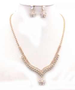 Crystal Rhinestone Jewelry Set for Women NB300623 GOLD CL