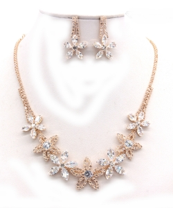 Crystal Rhinestone Jewelry Set for Women NB300624 GOLD CL